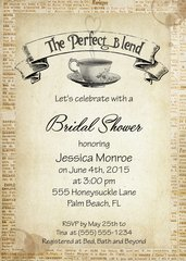 The Perfect Blend Bridal Shower Invitaiton