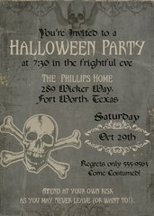 Grunge Halloween Party Invitation