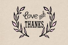 Love and Thanks - Thank You Card