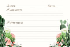 Fiesta Floral Recipe Card