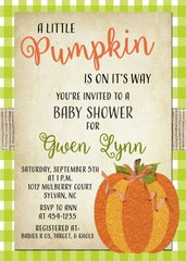 Rustic Pumpkin Baby Shower Invitation
