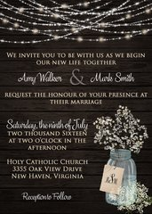 Baby's Breath Wedding Invitation