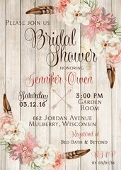 Boho Bridal Shower Invitation