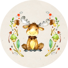 Baby Moose Stickers