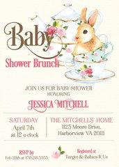 Bunny Baby Brunch Shower Invitation