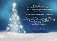 White Christmas Party Invitation