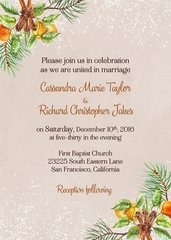 Winter Pine Wedding Invitation