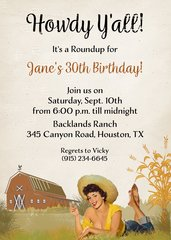 Howdy 50th Birthday Invitation
