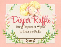 Diaper Raffle Card-Lamb
