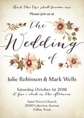 Blossoms Wedding Invitation