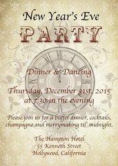 Steampunk New Year Invitation