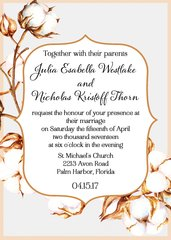 Cotton Wedding Invitation
