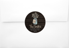 Baby's Breath Return Address Sticker