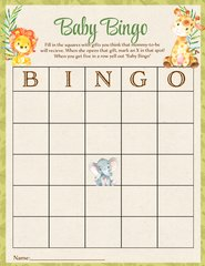 Baby Bingo Game Jungle