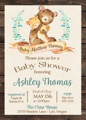 Baby Bear Shower Invitation
