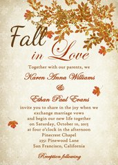 Fall In Love Wedding Invitation