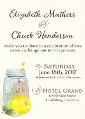 Mason Jar Lemonade Wedding Invitation