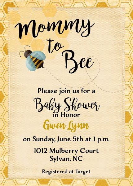 Mommy to bee vintage silhouette wedding invitation sugar and spice mommy to bee baby shower invitation filmwisefo Choice Image