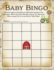 Baby Bingo Farm Game