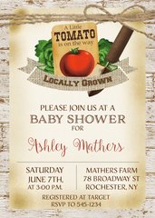 Garden Baby Shower Invitation
