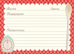 Red Kitchen Recipe Card