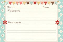 Flowers and Flags Recipe Card