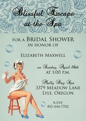 Spa Bridal Shower Invitaton