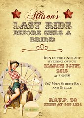 Western Cowgirl Weekend Party Invitation