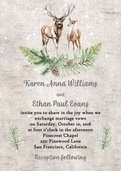 Winter Deer Wedding Invitation