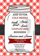 Couples BBQ Mason Jar Bridal Shower