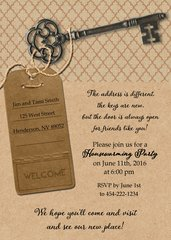 Tag & Key Housewarming Invitation