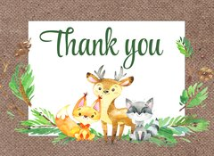 Woodland Forest Thank You Card