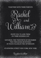 Snow Winter Wedding Invitation