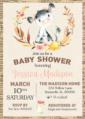 Cow Baby Shower Invitation