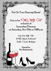 Bachelorette Party Invitation-Dancing Shoes