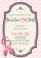Pink Breast Cancer Fundraiser Invitation