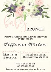 Baby Brunch Floral Invitation