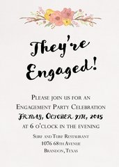 Floral Engagement Invitaiton