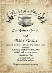 The Perfect Blend Wedding Invitation
