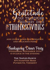 Thanksgiving Gratitude Dinner Invitation