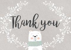 Polar Bear Thank You Card