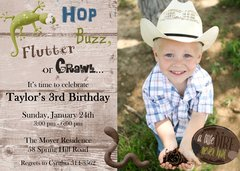 Bug Photo Birthday Invitation