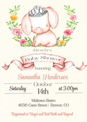 Princess Pig Baby Shower Invitation