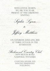 Birch Tree Wedding Invitations