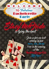 Vegas Bachelorette Party Invitation