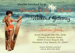 Bachelorette Beach Weekend Party Invitations