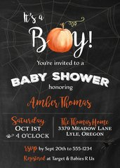 Halloween Boy Baby Shower Invitation