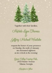 Winter Woodland Wedding Invitation