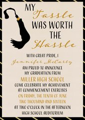 Tassle Was Worth the Hassle Graduation Invitation