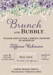 Kraft Brunch Bridal Shower Invitation